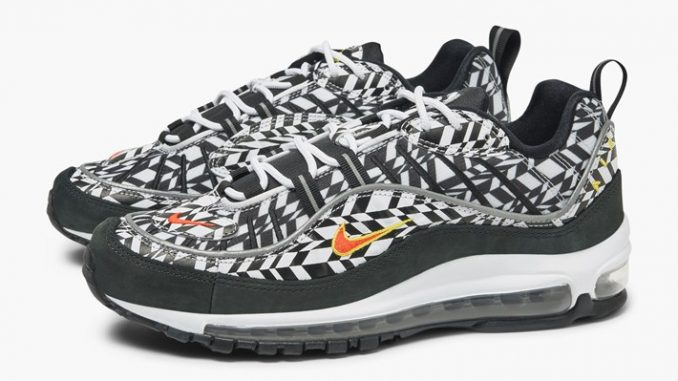 ab525aec4a Nike Air Max 98 All Over Print Fractal Olive | AQ4130-200