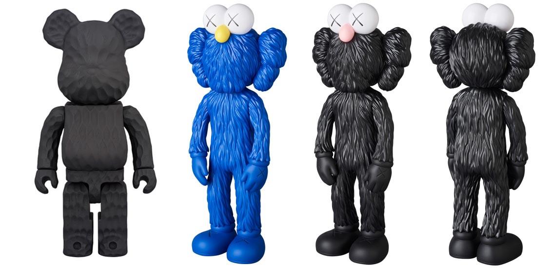 10月28日発売 KAWS BFF OPEN EDITION MOMA/BLACK + BE@RBRICK カリモク fragment design 400% carved wooden