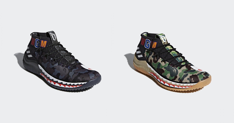 2018年2月17日10:00 販売開始 Adidas x BAPE オリジナルス DAME4 BAPE AP9974 / AP9975