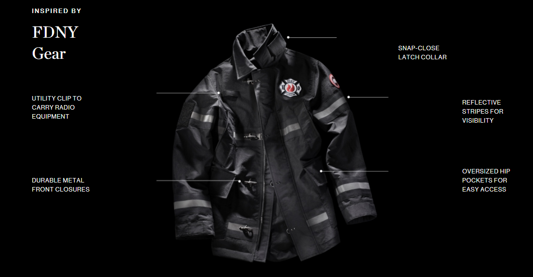 "4/14 11:00~発売開始 ""FDNY"" CANADA GOOSE × FDNY FOUNDATION The Bravest Coat 2408M ニューヨーク市消防局モデル"