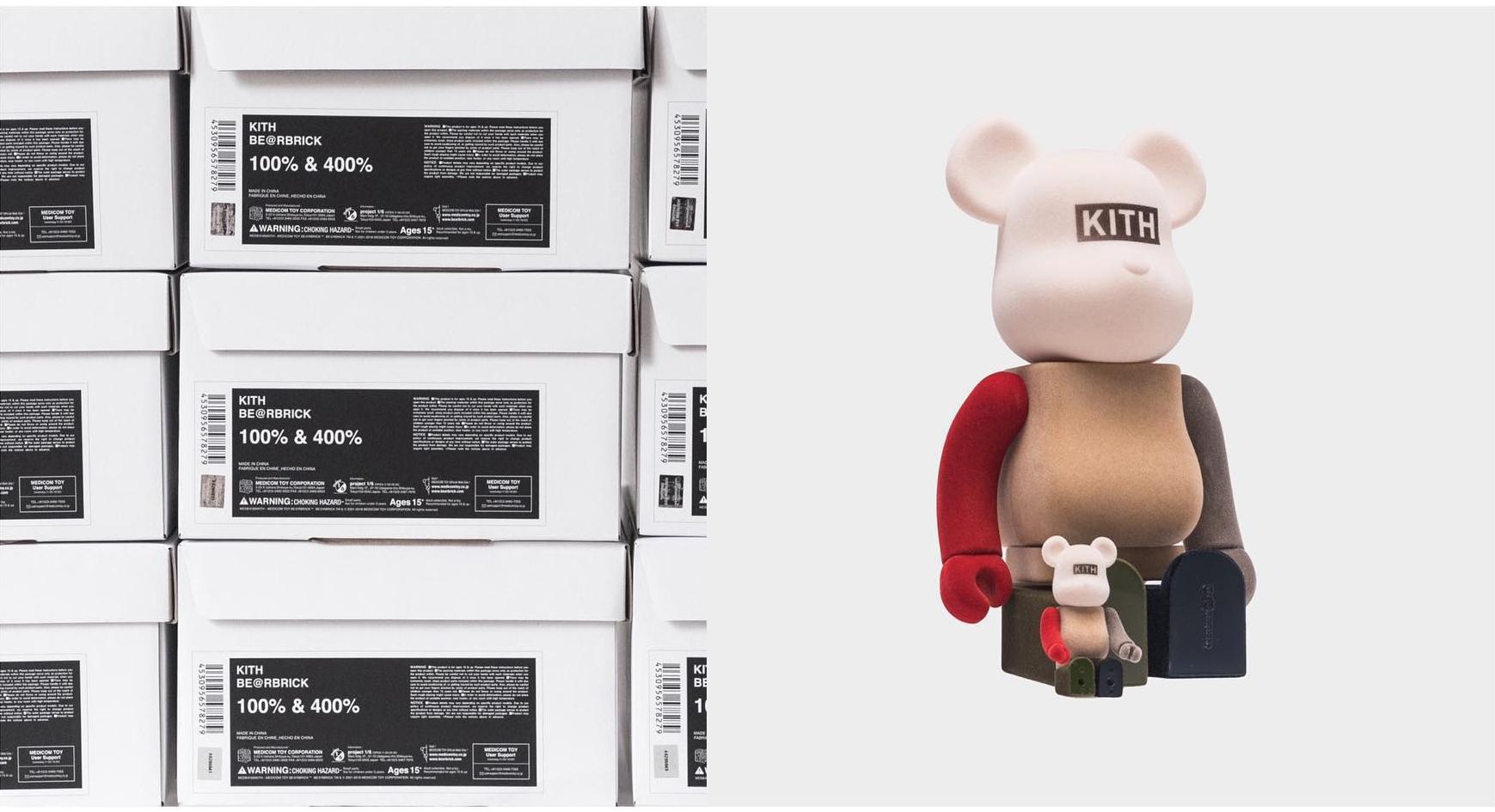 12月17日(日本時間18日深夜01:00)Kith BE@RBRICK 100 & 400% マンデープログラム限定販売ベアブリック