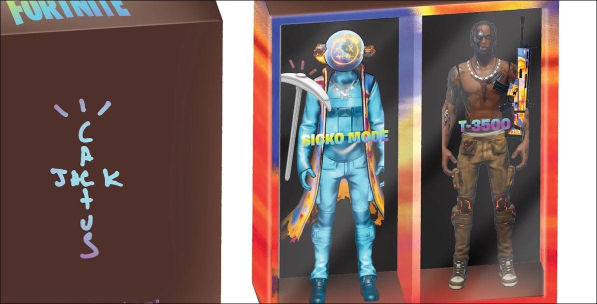 4月24日 発売開始 トラビス・スコット フォートナイト フィギュア + アパレル CACTUS JACK FOR FORTNITE