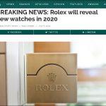 【2020年新作】ロレックスは 9月1日に 新作発表か? 新作はサブマリーナーデイト?