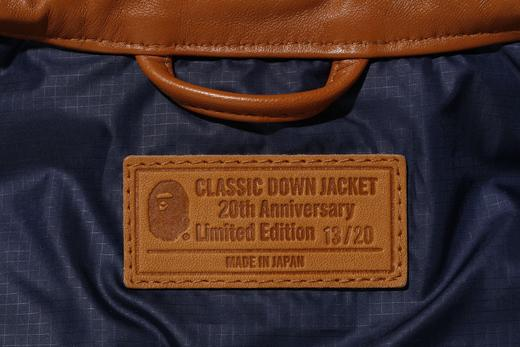 LEATHER CLASSIC DOWN JACKET 20TH ANNIV LIMITED EDITION