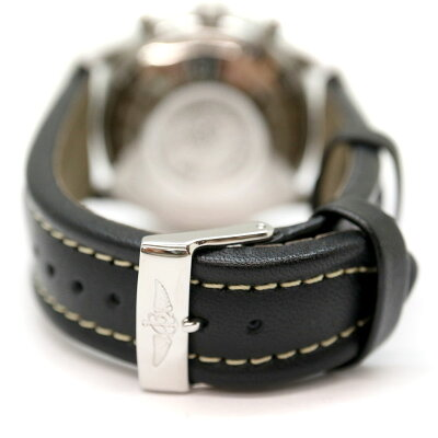 BREITLING【ブライトリング】A13022オールドナビタイマー自動巻きステンレススチールレザーベルトメンズ腕時計USED-9【中古】A2000099質屋かんてい局茜部店