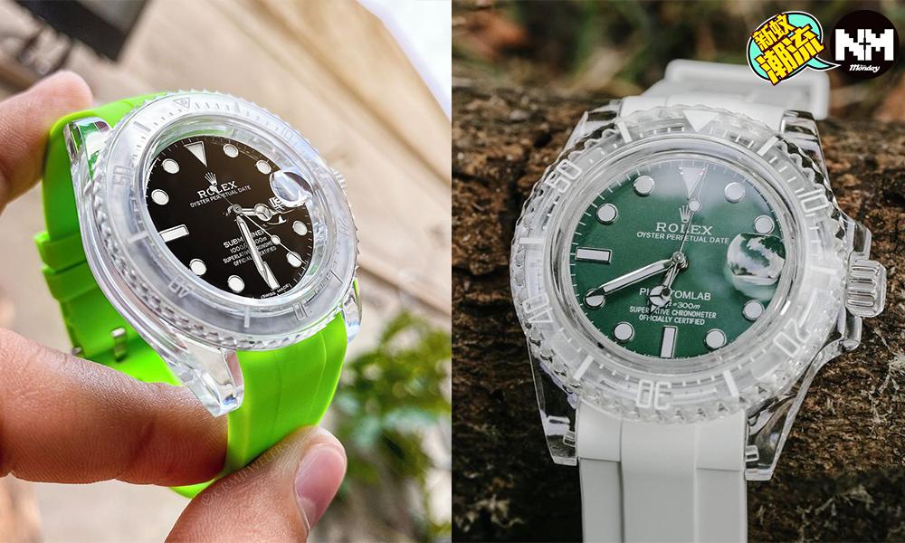 ロレックスの改造時計ロレックスサブマリーナーが透明になりますスウォッチ