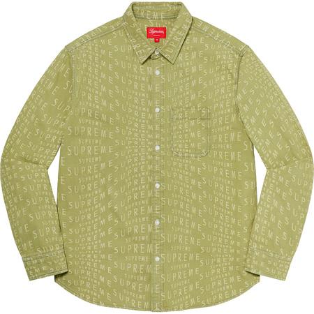 Warp Jacquard Logos Denim Shirt